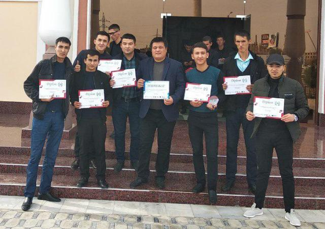 """2 - The institute's team took the 3-d place at the regional stage of the intellectual tournament """"Students' Cup"""" held in Bukhara"""