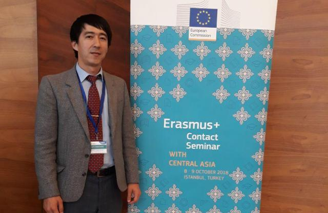 1 - The Director of the Information resource Centre of the institute took part in the seminar «Erasmus + Contact» held in Turkey
