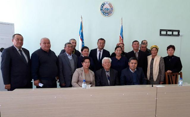 .jpg - There was a meeting in  town council of Moinak region devoted to the 85-th anniversary of Academician Jumanazar Bazarbaev