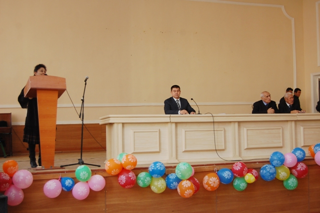 DSC 9011 - The conference and concert devoted to the holiday – the Day of assumption to the Karakalpak language of the status of the state language were held at the institute