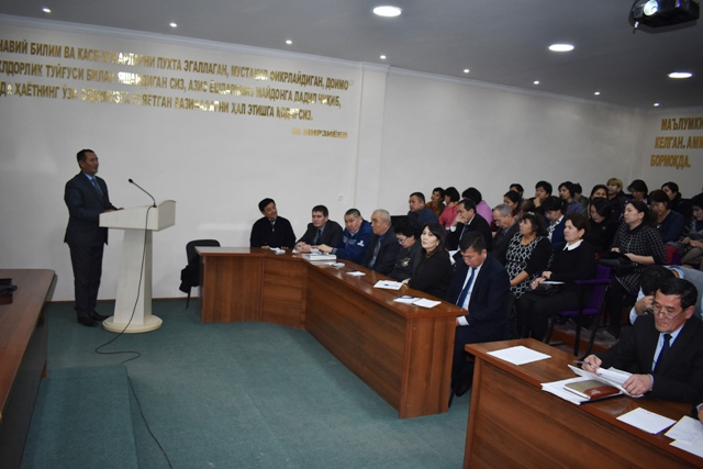 DSC 0416 - Discussion of Address by President of the Republic of Uzbekistan Sh.Mirziyoyev to the Oliy Majlis (Parliament) and the tasks pointed in it
