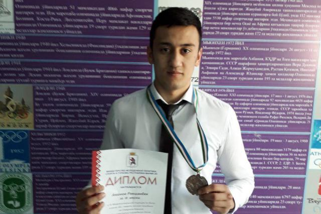 2 - A student of the Faculty of Physical  culture has taken the 3-d place in the international tournament held in Russia