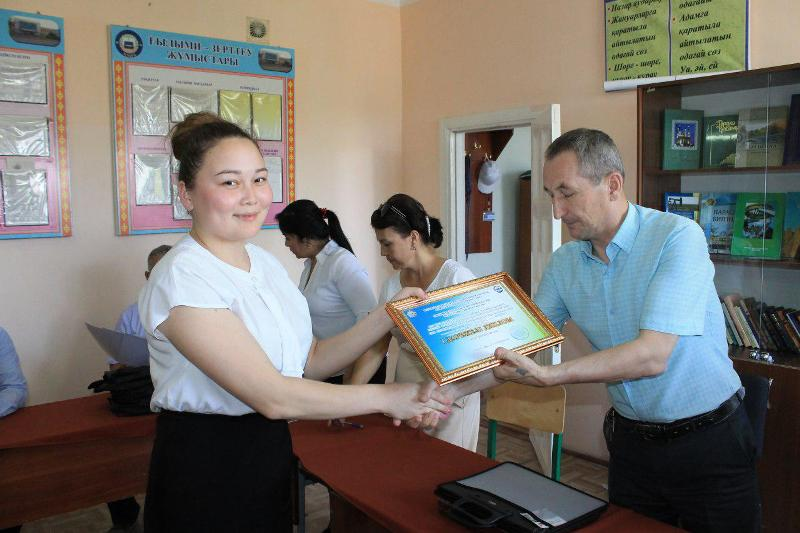 """1 20 - There was held closing ceremony of republican Olympiad  on the subject """"The Kazakh Language and Literature"""" at our Institute. Who is the winner?"""