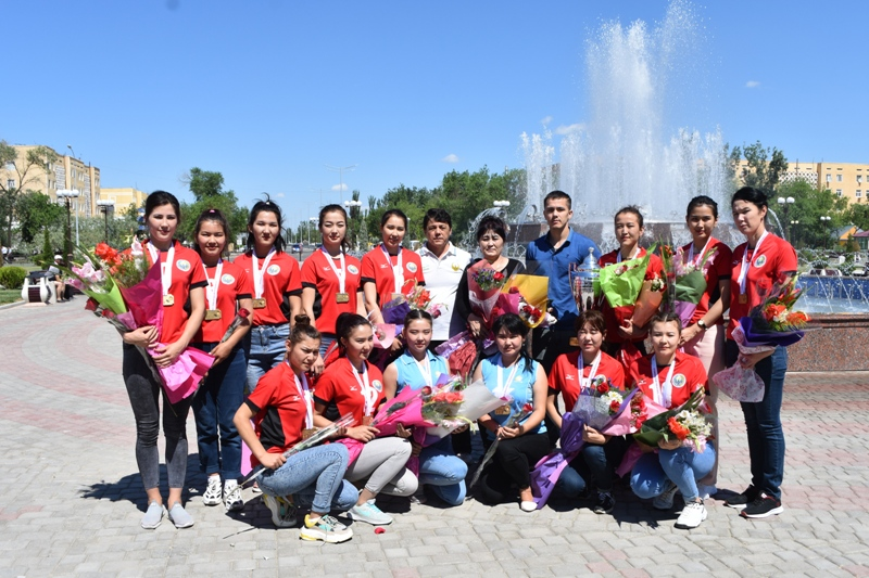 DSC 0022 1 - Combined team of Nukus State Pedagogical Institute  took a 1st place in the championship of Uzbekistan on volleyball