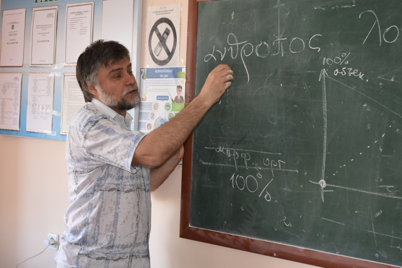 DSC 1564 - Professor-teachers of  Kuban State University of Russian Federation  are holding classes at Nukus State Pedagogical Institute