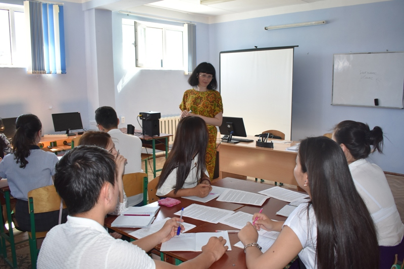 DSC 1624 - Professor-teachers of  Kuban State University of Russian Federation  are holding classes at Nukus State Pedagogical Institute