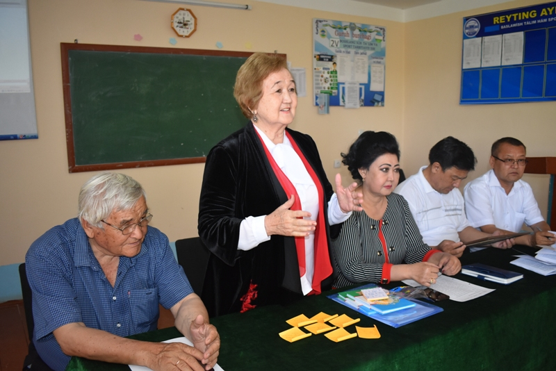 DSC 1698 - There was held a lesson by Kazakh Professor at Nukus State Pedagogical Institute at the faculty of preschool and primary education