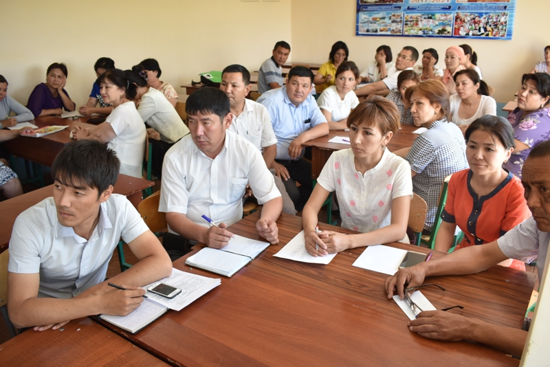 DSC 1702 - There was held a lesson by Kazakh Professor at Nukus State Pedagogical Institute at the faculty of preschool and primary education
