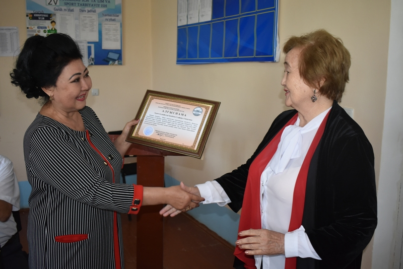 DSC 1705 - There was held a lesson by Kazakh Professor at Nukus State Pedagogical Institute at the faculty of preschool and primary education