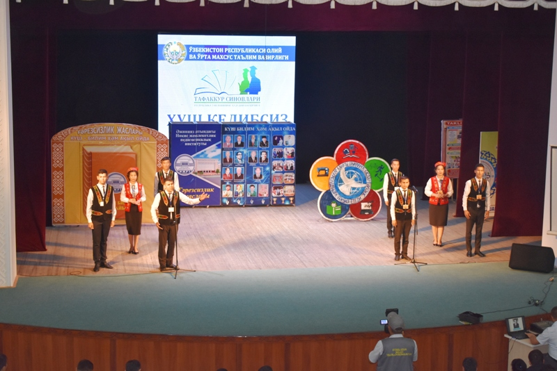 """DSC 1807 - Students of Nukus SPI took assignment for taking part in the final stage of competition """"Cognitive tests"""""""