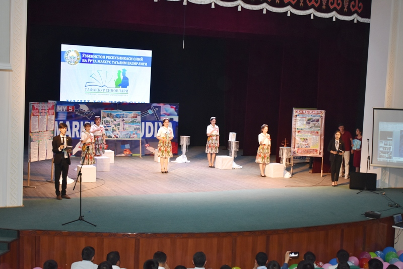 """DSC 1837 - Students of Nukus SPI took assignment for taking part in the final stage of competition """"Cognitive tests"""""""