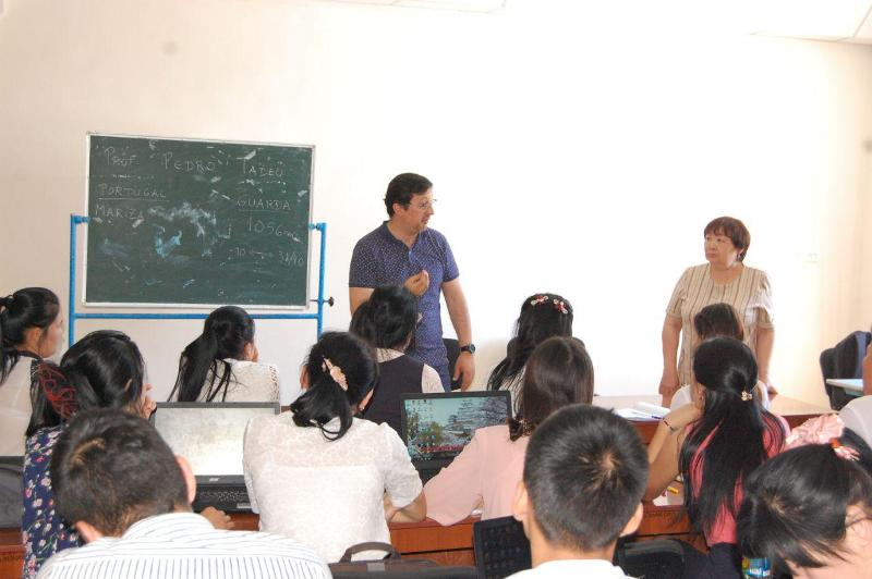photo 2019 05 21 16 14 37 - Lecture of Portuguese  professor for the students of Nukus State Pedagogical Institute