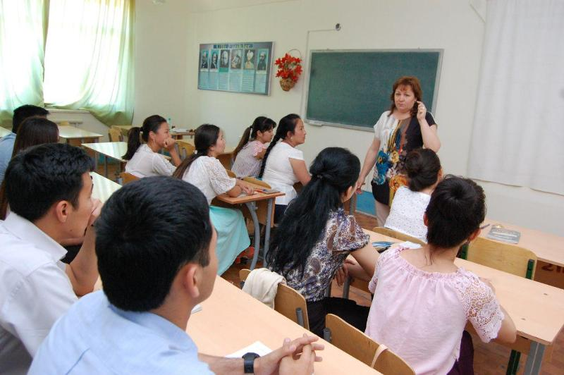 photo 2019 05 21 16 14 48 - Professor-teachers of  Kuban State University of Russian Federation  are holding classes at Nukus State Pedagogical Institute