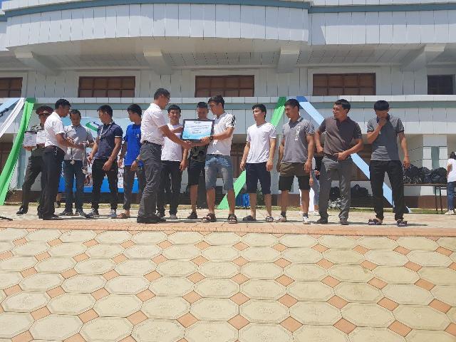 5 - Институтымыз командасы «Мега спорт» жарысының Қарақалпақстан басқышында 2-орынды ийеледи
