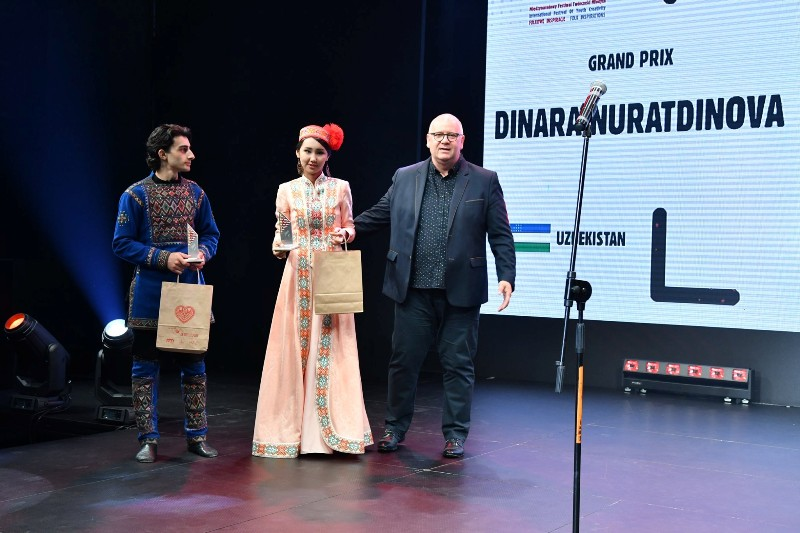 1 - A student of Nukus State Pedagogical Institute Dinara Nuratdinova won the Grand Prix at the international festival in Poland