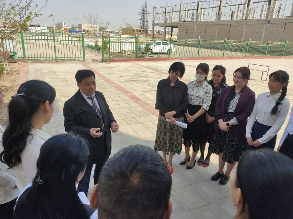 6 1024x768 - THE DEAN OF THE FACULTY GOT ACQUAINTED WITH THE PROCESS OF PEDAGOGICAL PRACTICE