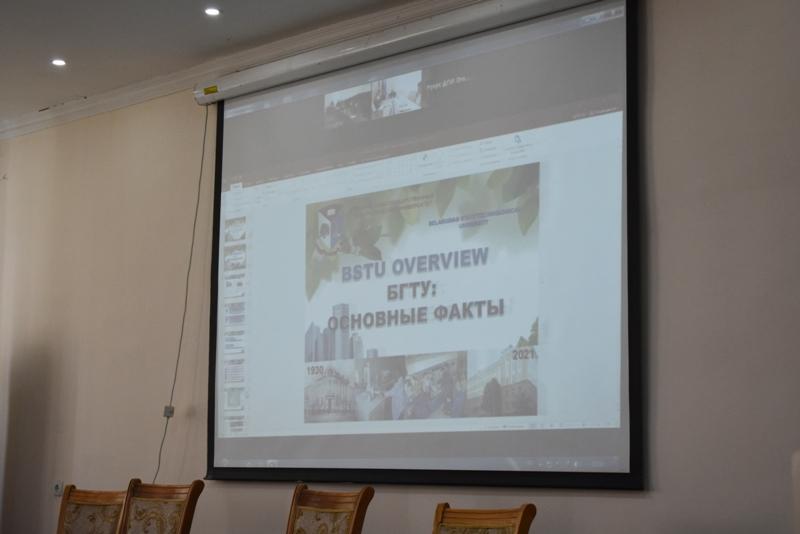 DSC 0338 - Беларусь мәмлекетлик технологиялық университети менен бирге ислесиў мәселелери додаланды